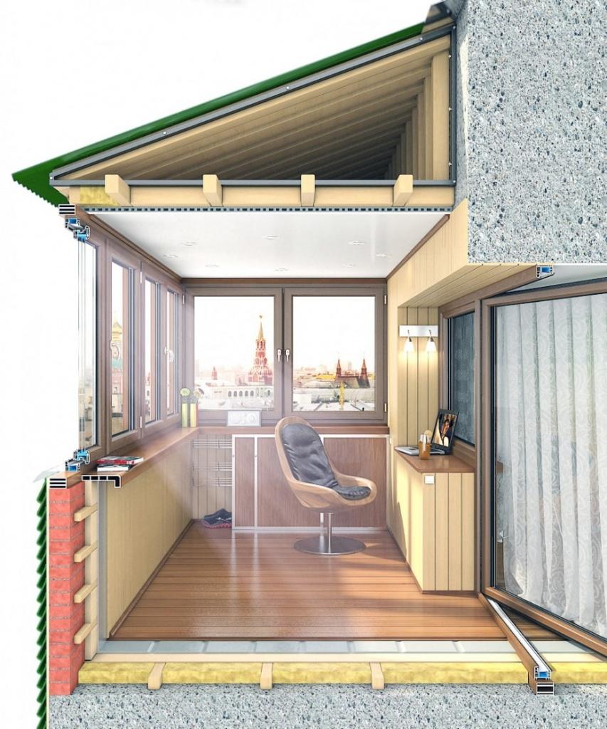 Остеклить балкон с выносом в москве по низкой цене.